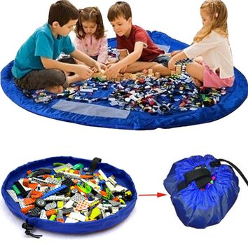 Universal Portable Kids Children Infant Baby Play Mat Large Storage Bags Toys Organizer 150cm Blanket Rug Boxes XL for Lego Toys