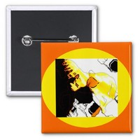 Horse in the City - Abstract Pin