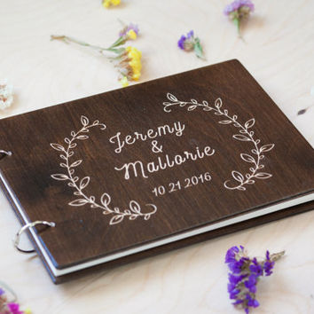 Wedding Guest book, Wedding Guestbook, Guest Book Personalized, Customized, Wedding Date and names