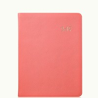 GiGi New York 2015 Desk Diary Coral French Goatskin