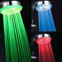 New 3 Color Chaging LED Light Shower Head Home Bath China Wholesale - Everbuying.com