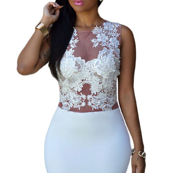 Sizzling Floral Lace Bodice Mini Club Dress LAVELIQ