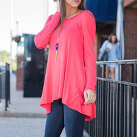 The Tender Loving Care Top, Coral