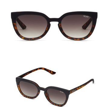 Quay Australia - Noosa Modern Cat Eye Sunglasses - Black/Tort Brown