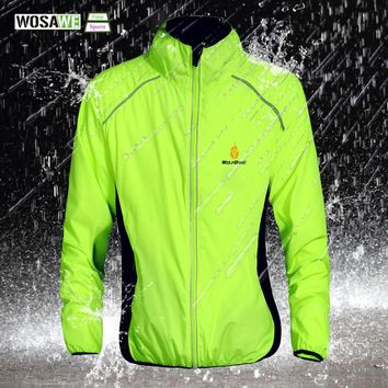 WOSAWE Windproof Cycling Jackets Sports Coat Waterproof Breathable Reflective Riding Clothing MTB Bike Jersey Wind Coat