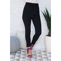 Allison Tie Pants (Black)