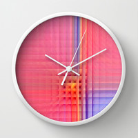 Pink Mosaic Wall Clock by Christine baessler