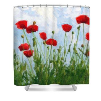 Poppies Ca 2017 By Adam Asar - Shower Curtain