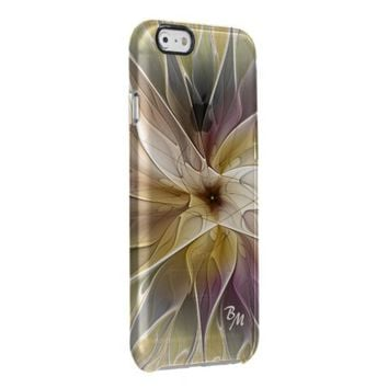 Floral Fantasy Pattern Abstract Fractal Monogram Clear iPhone 6/6S Case