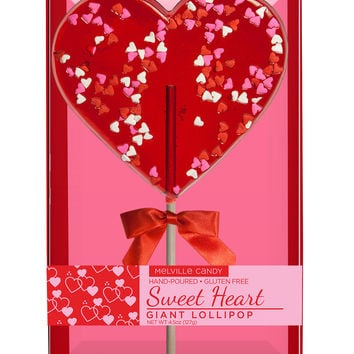Giant Confetti Heart Lollipop
