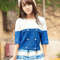 Blue and White Sailor Dress