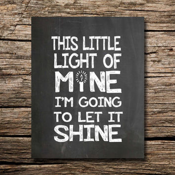 This little light of mine, I'm going to let it shine! Printable poster - nursery art
