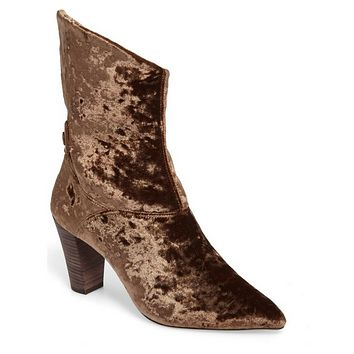 Free People– Moonlight Brown Velvet Bootie
