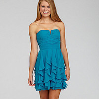 Hailey Logan Strapless Handkerchief Dress | Dillards.com