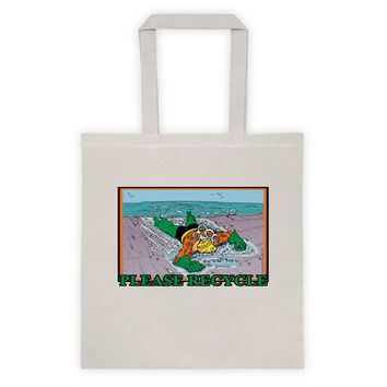 Please Recycle Death of Aquaman Parody Tote Bag