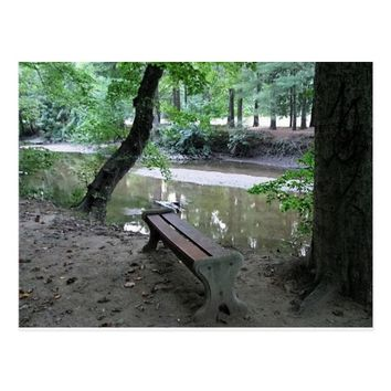 Bench by the Creek Postcard
