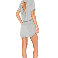 Chaser Drape Back Pocket Mini Dress in Grey