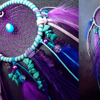 Dreamcatcher, bohemian dreamcatchers, dreamcatcher necklace, feather dreamcatcher, Custom made, cruelty free