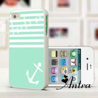 Green iPhone Case, Anchor iPhone 4 case  iPhone 4s case .