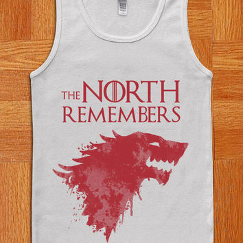 The North Remembers Game of Thrones logo Tank Top, Fashion Tank , T Shirt , Women Shirt , Cothing , Women and men Tank Top