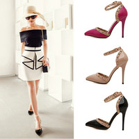 High Heel Accessories Pointed Toe Rivet Ring = 4814802628