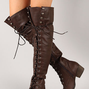 Breckelle Alabama-12 Military Lace Up Boot