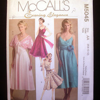 Women's Evening Dress & Shrug Misses' Size 6,8,10,12 McCall's 5045 Sewing Pattern Uncut