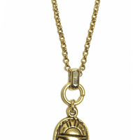 Gold Scarab Charm Necklace