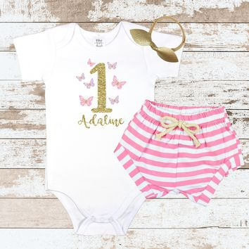 Custom Butterfly 1 Pink Shorts Outfit