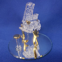 Glass Baron Piano Figurine