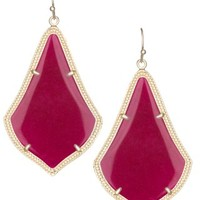 Alexandra Earrings in Maroon Jade - Kendra Scott Fashion Designer Jewelry - Earrings