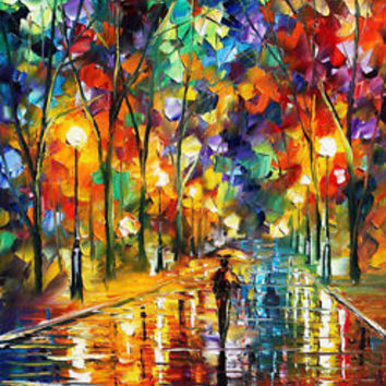 "Pretty Night —  Oil Painting On Canvas By Leonid Afremov. Size: 20""x24"""