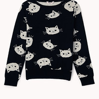 Kitten Face Sweater (Kids)