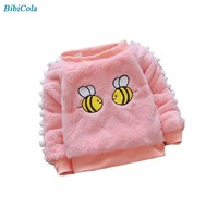 BibiCola Winter Baby Girls Sweater Kids Girl Clothes Children Girl Warm Long Sleeve Sweater Bebe Girl Thicken Clothing