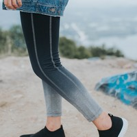 Ombre Legging, Grey/Black