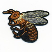 Bee Embroidered Iron-On Patch