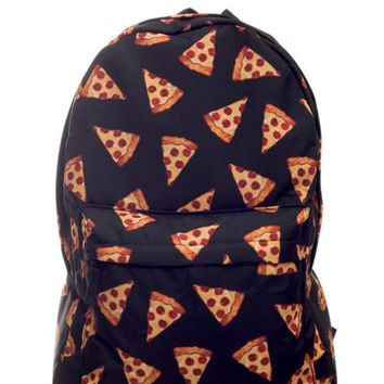 Backpack - Pizza is Life Backpack in Black