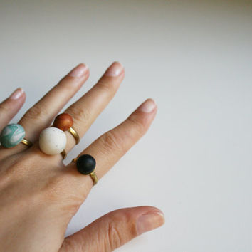 Black dot ring Simple jewelry Hipster cool ring Stack ring Dainty jewelry