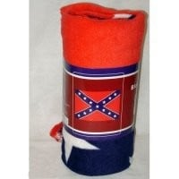 Rebel Confederate Fleece Blanket Throw 50x60 inches