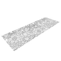"Julia Grifol ""My Butterflies and Flowers in Black"" Yoga Mat"