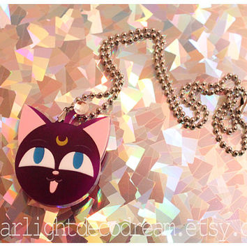 LUNA P Sailor Moon Inspired Acrylic Necklace for Mahou Kei & Magical Girl Fashion