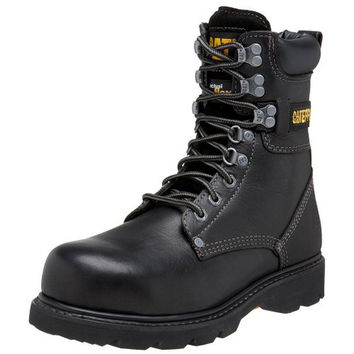 Caterpillar Mens Indiana Leather Steel Toe Work, Industrial Boots