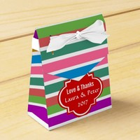 Custom Stipes Pattern Wedding Favour Gift Box Favour Boxes
