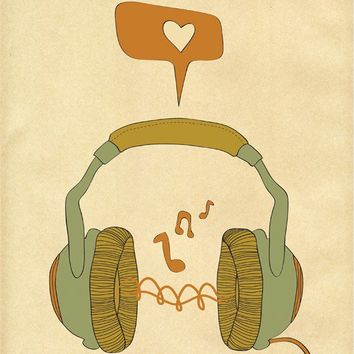 MUSIC  It's A Passion  8x10 Size Print by ParadaCreations on Etsy