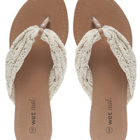 Crochet Strap Flip Flops | Wet Seal