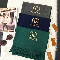 GUCCI  Fashion Women Men Leisure Embroidery Logo Letter Accessories Cape Scarves Scarf(3-Color) I-TMWJ-XDH