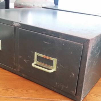 Vintage Army Olive Green Industrial Two Drawer Industrial Card File Cabinet Fixture Cole Steel Great Mid Century Decor Storage Organization