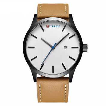 Curren Brand Quartz Men's Casual Leather Wrist Watch