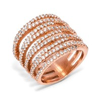 Women's BaubleBar 'Ice Twister' Ring - Rose Gold