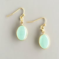 Mint Chalcedony Earrings